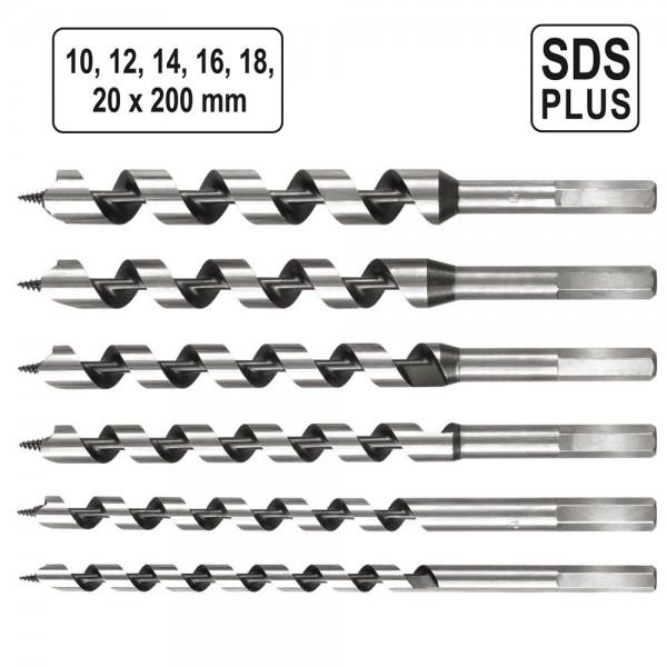 YATO Profi Schlangenbohrer Set 10-20mm SDS Plus YT-3300
