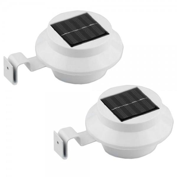 Solar LED Dachrinnenleuchte 2er Set