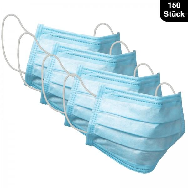 150x Einwegmaske 3-Lagig 50er Set Maske 3-lagig Gesichtsmaske Mund- und Nasenmaske