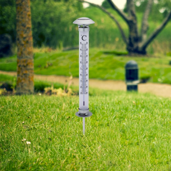 Solar - Thermometer mit LED Beleuchtung 36 cm