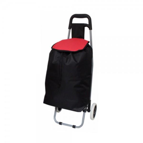 Einkaufstrolley Deluxa schwarz Trolleytasche Einkaufsroller
