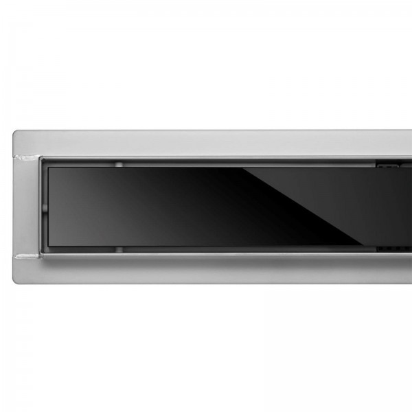 Fala Duschrinne Black Glass 80cm
