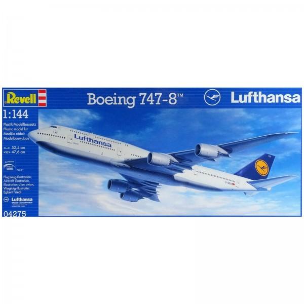 Revell Modellbausatz Boeing 747-8 Lufthansa Modellflugzeug Maßstab 1:144 04275