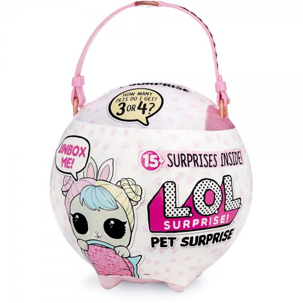 L.O.L. Surprise! Biggie Pet Hop Hop Pink LOL 15+ Überraschungen Figur Spielzeugfigur
