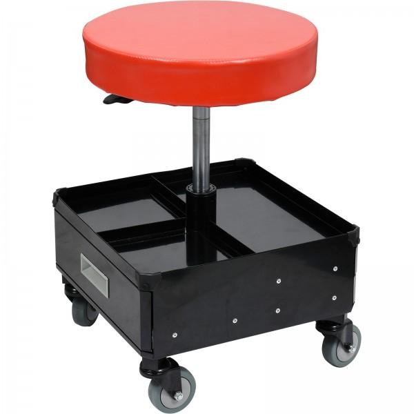 YATO Profi Werkstatt-Hocker   3 Schubladen   höhenverstellbar   stabile Ausführung   max. 150kg   YT-08795