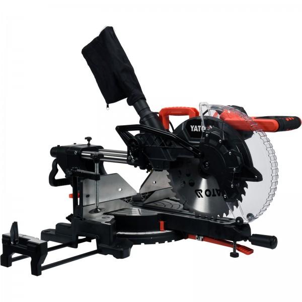 YATO Profi Kapp- und Gehrungssäge mit Laser | 1800 Watt | 305mm | 40T | 30mm | YT- 82175