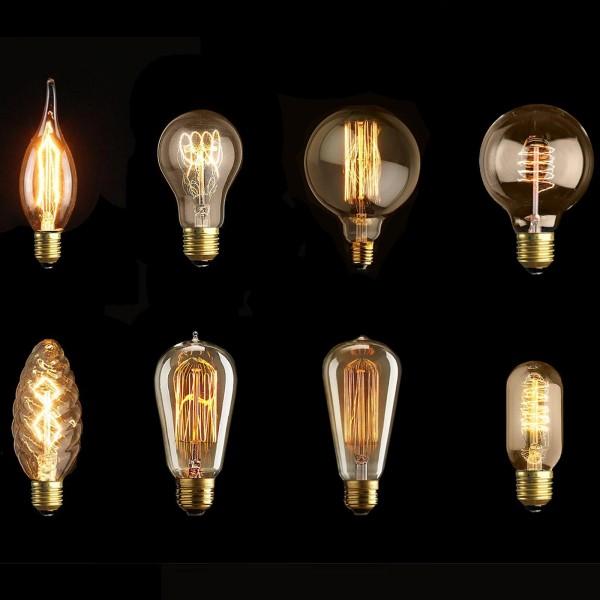 Grafner Edison Vintage Leuchtmittel 40 Watt Retro Glühlampe Filament Glühbirne
