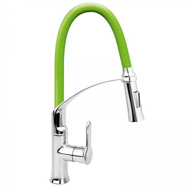 FALA Profi Einhebel-Küchenarmatur flexibel grün 75679
