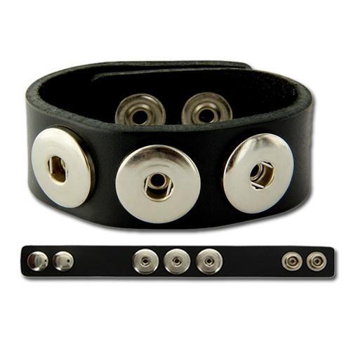 Chunk Armband aus Leder 22cm