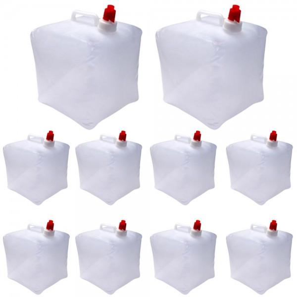 10er Set Wasserkanister faltbar 10 Liter