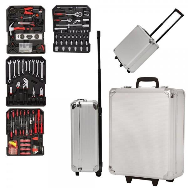 Grafner® Werkzeugkoffer 399 teilig bestückt Werkzeugtrolley