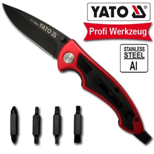 YATO Profi Multifunktion Einhandmesser incl. Tasche YT-76031 Taschenmesser Klappmesser