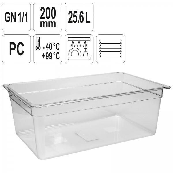 YATO Profi GN Gastronorm Behälter Kunststoff 1/1 200mm