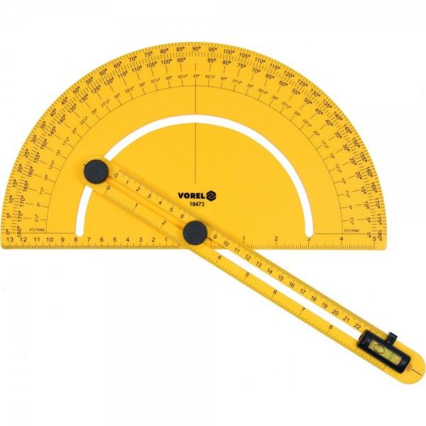 Vorel Winkelmesser mit verstellbarer Schiene inkl. Wasserwaage 250 mm
