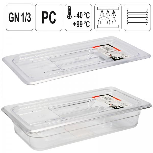 YATO Profi GN Gastronorm Deckel für Behälter Kunststoff 1/3