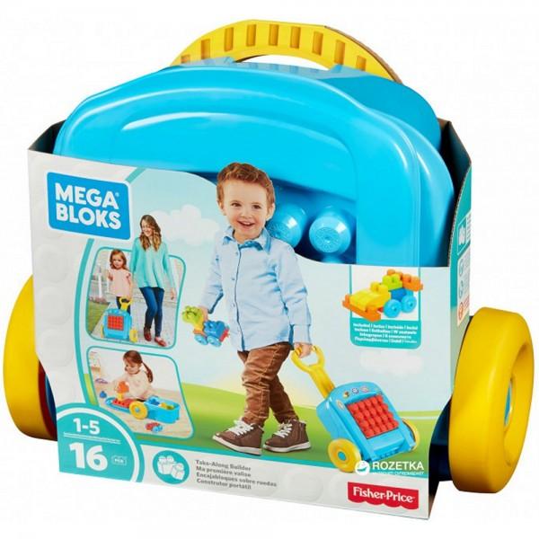 Mattel Mega Bloks Bausteine Spielzeug Rollkoffer Konstruktion Baustein