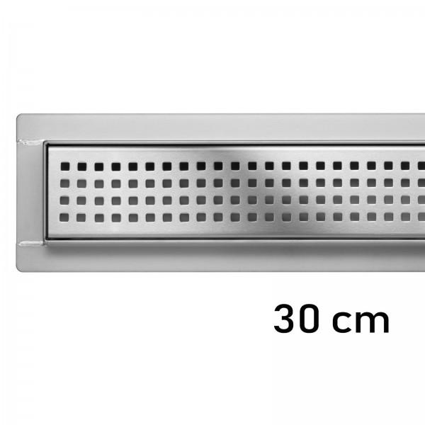 Duschrinne Bodenablauf Modell Tocantins 30 cm Edelstahl Siphon Ablaufrinne