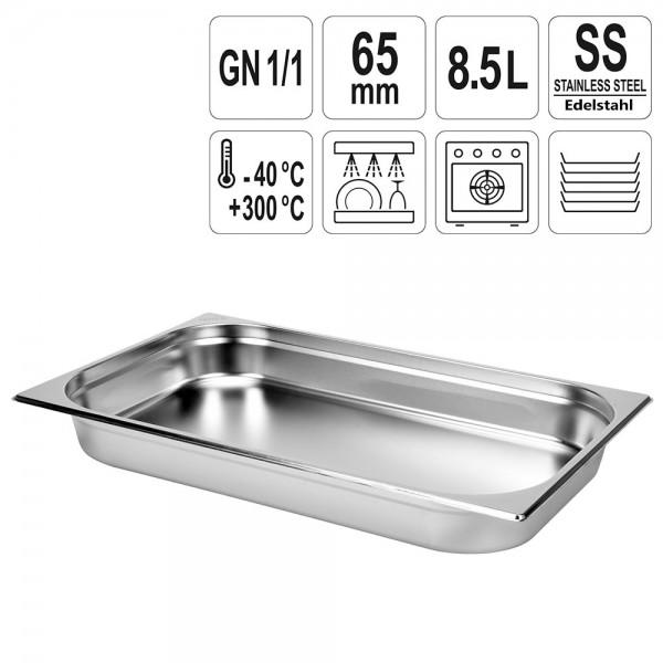 YATO Gastronorm Behälter Edelstahl 1/1 65mm