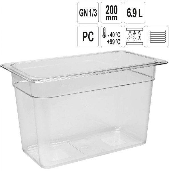 YATO Profi GN Gastronorm Behälter Kunststoff 1/3 200mm