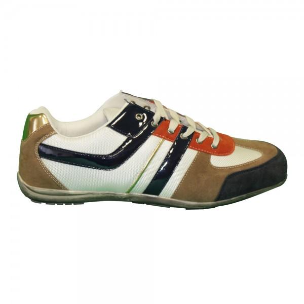 Herren Sneaker Größe: 43 / Farbe: braun - weiss
