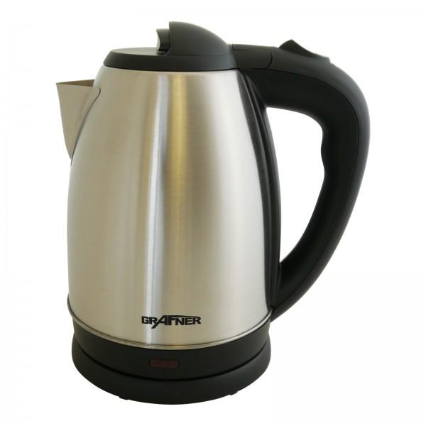Grafner® Edelstahl Wasserkocher 2200 Watt 1,7 Ltr.