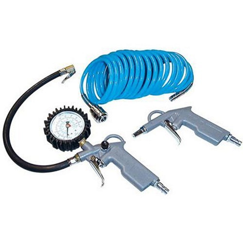 Güde Druckluft Set 3 tlg. Reifenfüller Ausblaspistole Druckluftschlauch