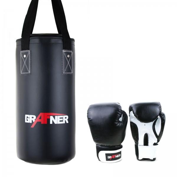 Grafner® Kinder Box Set bestehend aus Boxhandschuhe und Boxsack gefüllt