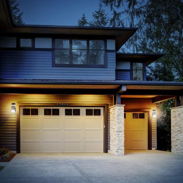 4x Grafner® LED-Solar Strahler mit Bewegungsmelder Edelstahl FL10556