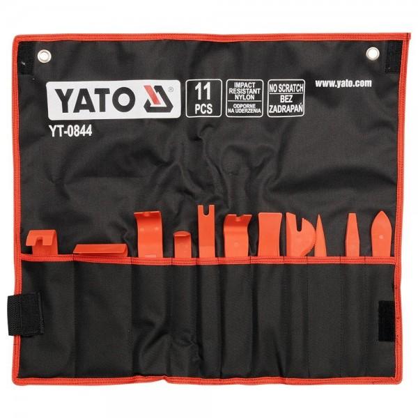 YATO Profi 11 teiliges Demontageset für Innenverkleidungen YT-0844