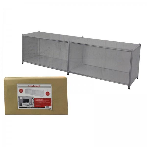 TV Lowboard weiß 150 x 42 cm mit Kabelaussparung 548-33021