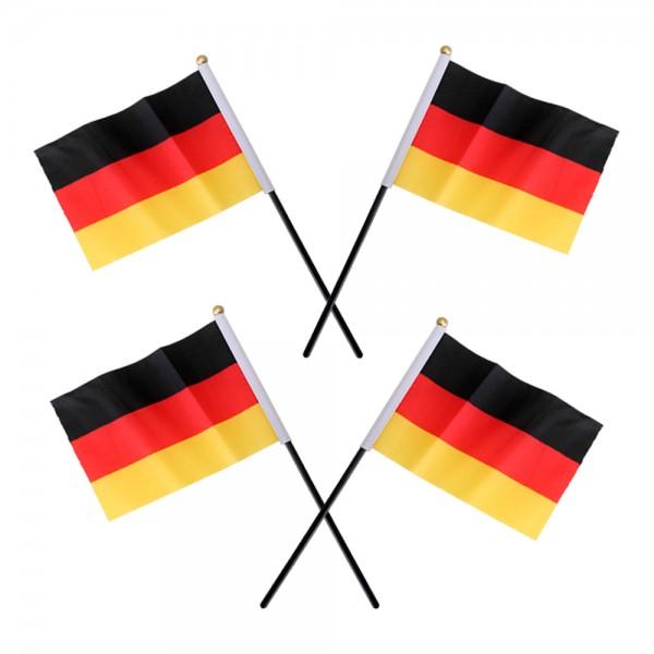 4er Set Stabflaggen Fahnen Deutschland