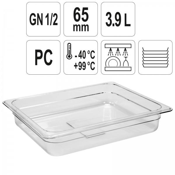 YATO Profi GN Gastronorm Behälter Kunststoff 1/2 65mm YG-00400