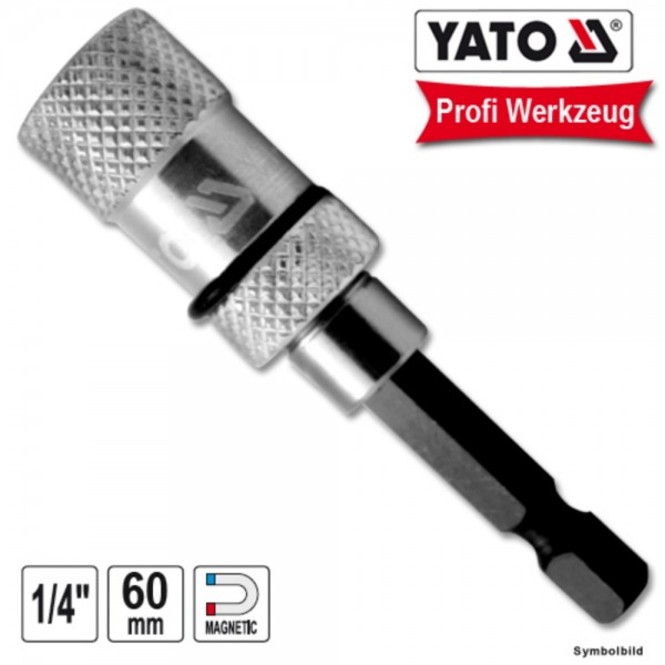 "YATO Profi Bit Halter magnetisch 60mm 1/4"" Zoll"