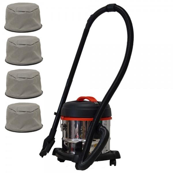 Grafner® Nass- und Trockensauger 15 Liter mit 3 Ersatzfiltern