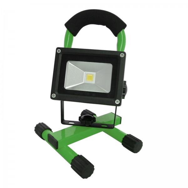 Grafner® LED Baustrahler 10 Watt 2200 mAh Akku in Grün Flutlicht