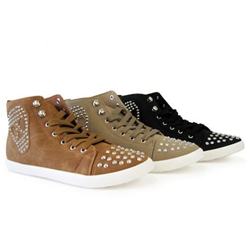 Damen Sneakers Boots mit Totenkopfmuster Größe 36-38-39