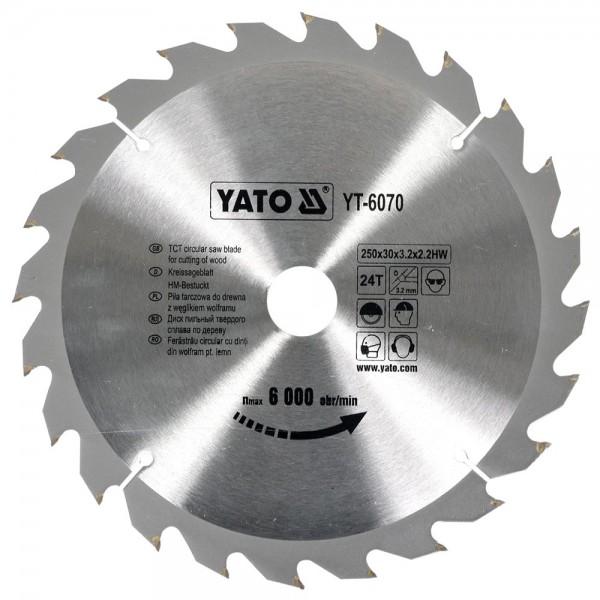 YATO Profi HM Kreissägeblatt 250x30 24T YT-6070