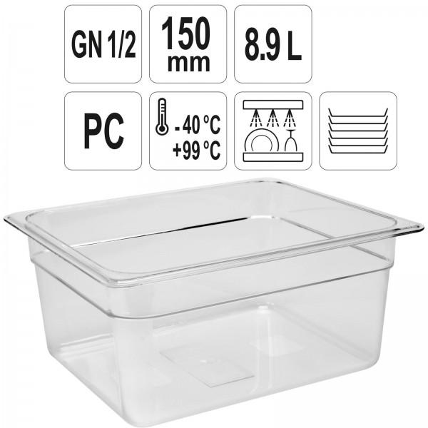 YATO Profi GN Gastronorm Behälter Kunststoff 1/2 150mm
