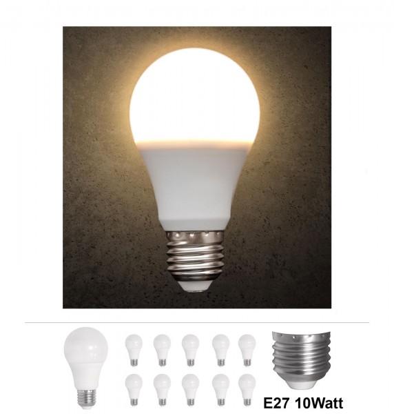 10x Grafner® LED Leuchtmittel E27 10 Watt 3000K Warmweiss