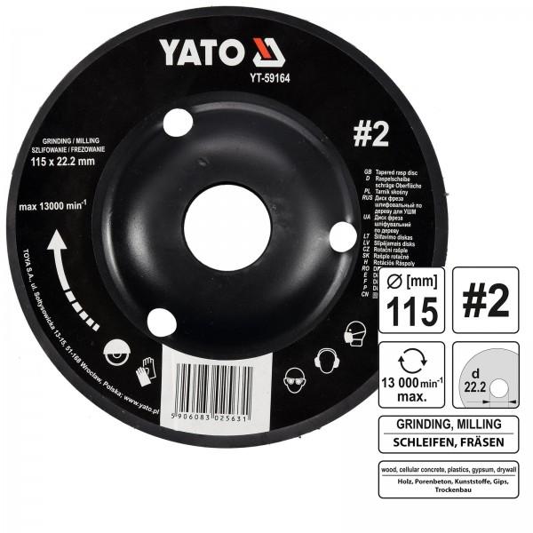 YATO Profi Raspelscheibe für Winkelschleifer 115mm Nr2