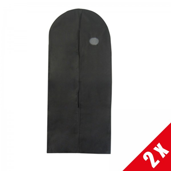 """2 x Kleidersack """"Non wooven"""" schwarz, 60x150cm"""