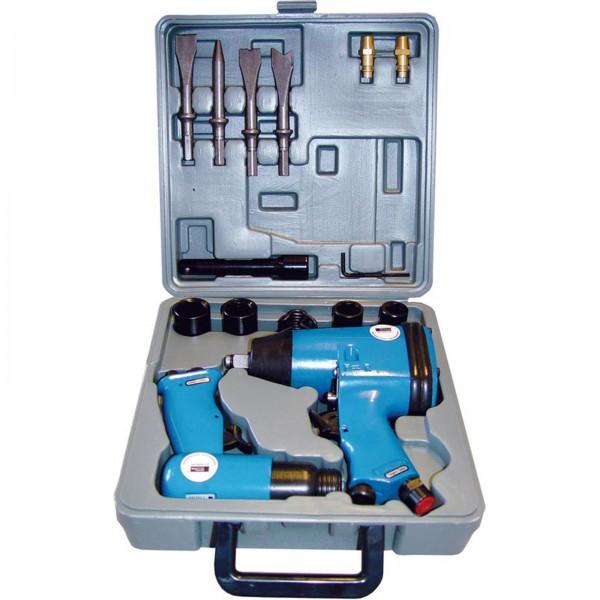 Güde Druckluftgeräte Set 15 tlg. Schlagschrauber- und Meißelhammergerät