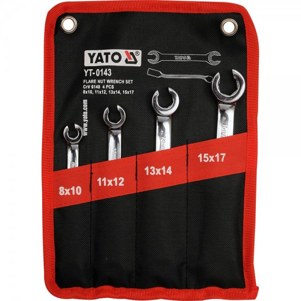 YATO Profi Offener Ringschlüssel Satz 4 tlg